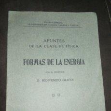 Libros antiguos: AÑO 1916,ESCUELA ESPECIAL DE INGENIEROS DE CAMINOS, CANALES Y PUERTOS,APUNTES CLASE FÍSICA.. Lote 213508451
