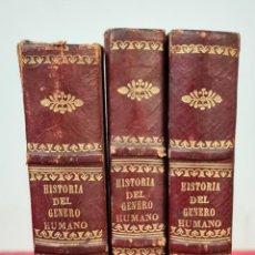 Libros antiguos: HISTORIA NATURAL DEL JENERO HUMANO ( SIC ). J. VIREY. IMP. BERGNES. 3 VOL. 1835.. Lote 213871046