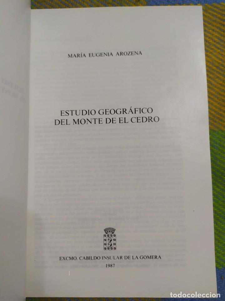 Libros antiguos: Estudio geográfico del Monte de El Cedro. María Eugenia Arozena. - Foto 2 - 213882897