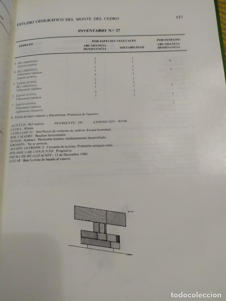Libros antiguos: Estudio geográfico del Monte de El Cedro. María Eugenia Arozena. - Foto 8 - 213882897