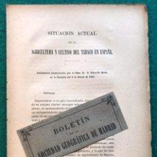 Libros antiguos: CULTIVO DEL TABACO EN ESPAÑA.. Lote 214297161