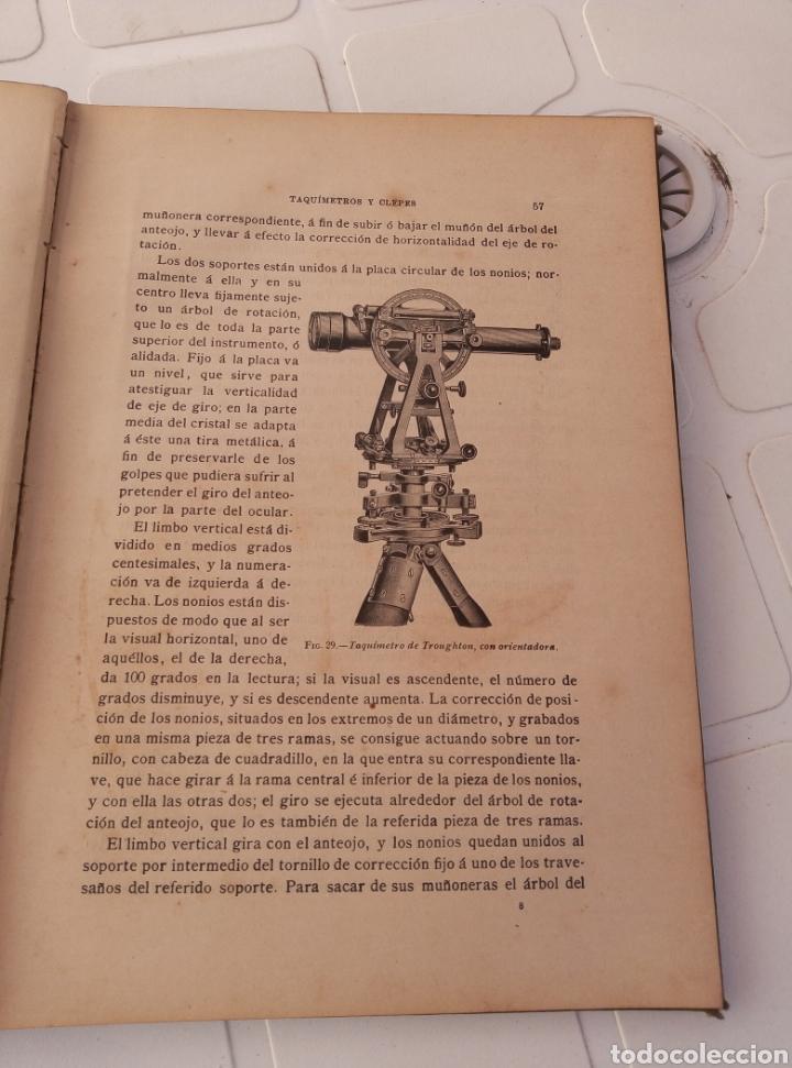 Libros antiguos: Muy interesante libro taquimetria. Por Eusebio Sanchez y lozano. Año 1902 - Foto 4 - 214527705