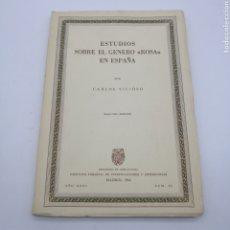Livros antigos: ESTUDIOS. SOBRE EL GÉNERO ROSA EN ESPAÑA. Lote 216445335