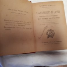 Libros antiguos: ERNESTO HAECKEL. LAS MARVILLAS DE LA VIDA.. Lote 216763683