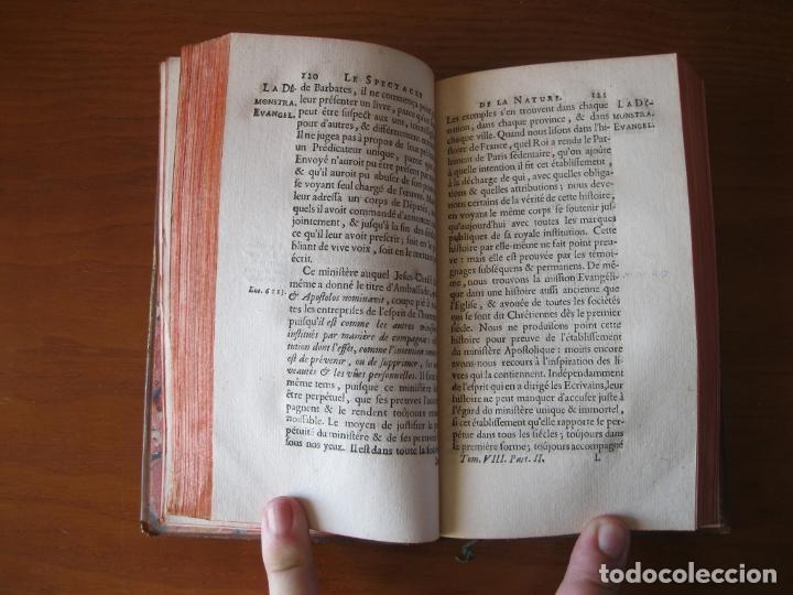 Libros antiguos: Le spectacle de la Nature, 2 volúmenes, 1751. A. Pluche. Dos frontispicios - Foto 13 - 216867763