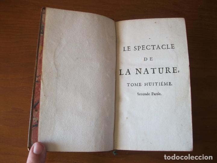 Libros antiguos: Le spectacle de la Nature, 2 volúmenes, 1751. A. Pluche. Dos frontispicios - Foto 15 - 216867763