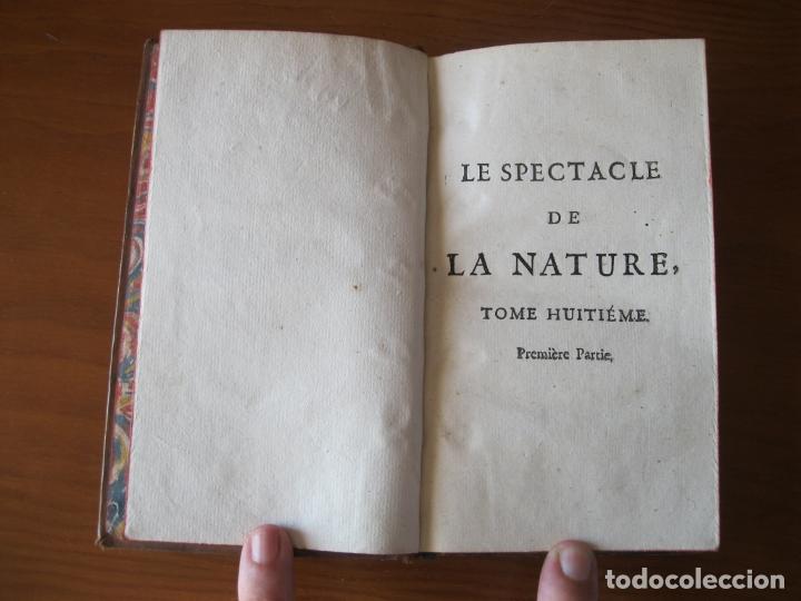 Libros antiguos: Le spectacle de la Nature, 2 volúmenes, 1751. A. Pluche. Dos frontispicios - Foto 16 - 216867763