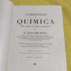 Libros antiguos: 1924 COMPENDIO DE QUIMICA 320 PAGINAS. Lote 217176201