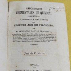 Libros antiguos: 1842 NOCIONES ELEMENTALES DE QUIMICA 229 PAGINAS. Lote 217178128