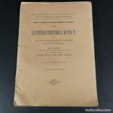 Libros antiguos: PALEONTOLÓGICAS MEMORIA N 2 PINTURAS PREHISTORICAS DE PEÑA TÚ HERNANDEZ PACHECO CABRÉ 1914. Lote 218073847
