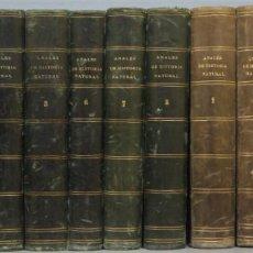 Libros antiguos: 1872.- ANALES DE HISTORIA NATURAL. 14 TOMOS FALTO DEL 13. Lote 218633313