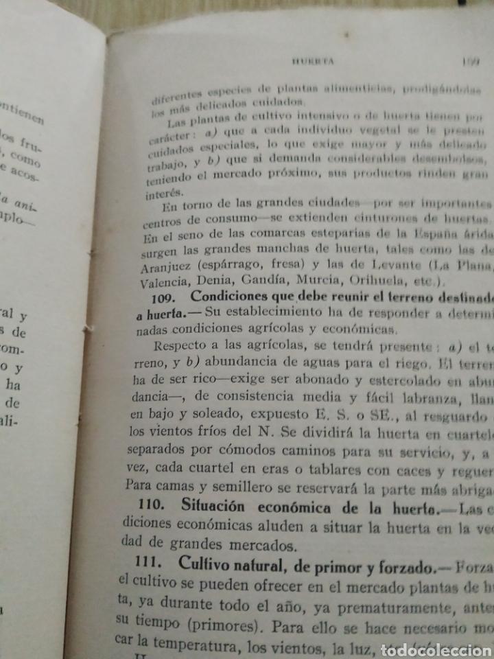 Libros antiguos: Agricultura elemental española, de 1929 - Foto 3 - 218717165
