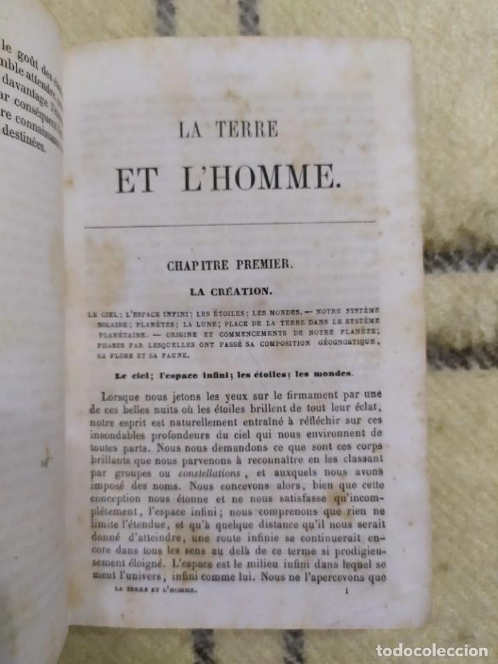 Libros antiguos: 1857. La tierra y el hombre. Geología, geografía y etnología. Maury. - Foto 2 - 220529372