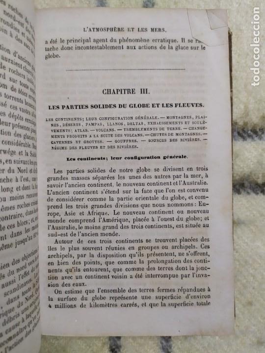 Libros antiguos: 1857. La tierra y el hombre. Geología, geografía y etnología. Maury. - Foto 4 - 220529372