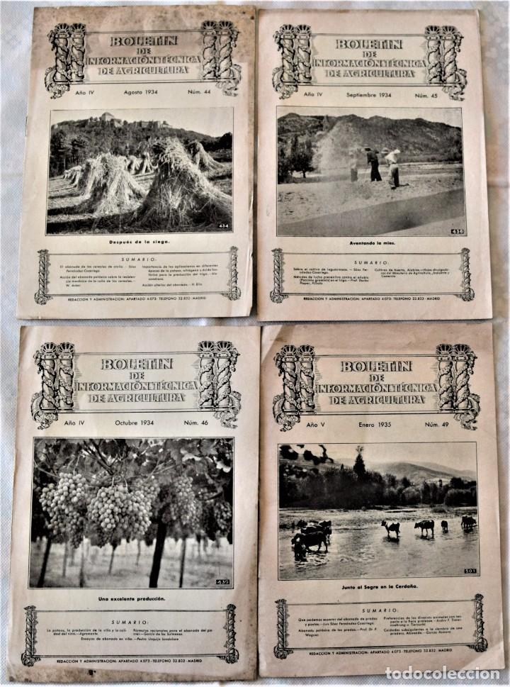 Libros antiguos: LOTE 17 EJEMPLARES BOLETÍN DE INFORMACIÓN TÉCNICA DE AGRICULTURA AÑOS 1931, 1933, 1934 Y 1935 TABACO - Foto 3 - 221632478