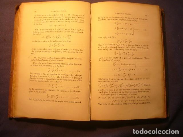 Libros antiguos: D.F. GREGORY: - A Treatise On the Application of Analysis to Solid Geometry - (CAMBRIDGE, 1852) - Foto 4 - 222906891