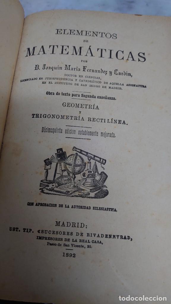 PRPM 61 JOAQUIN MARÍA FERNÁNDEZ. GEOMETRÍA Y TRIGONOMETRÍA RECTILÍNEA. 1892 (Libros Antiguos, Raros y Curiosos - Ciencias, Manuales y Oficios - Física, Química y Matemáticas)
