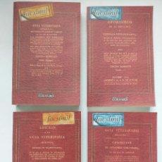 Libros antiguos: FRANCISCO DE RUS GARCÍA: GUÍA VETERINARIA ORIGINAL (1819, FACSÍMIL, 4 TOMOS). ALBEITERÍA CABALLOS. Lote 222867392