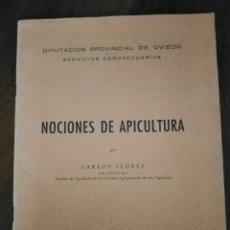 Libri antichi: NOCIONES DE APICULTURA. CARLOS FLOREZ, DIPUTACIÓN DE OVIEDO.. Lote 223968897