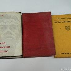Libros antiguos: LIBROS ANTROPOLOGIA LOTE DE 3 EN INGLÉS. Lote 224310256