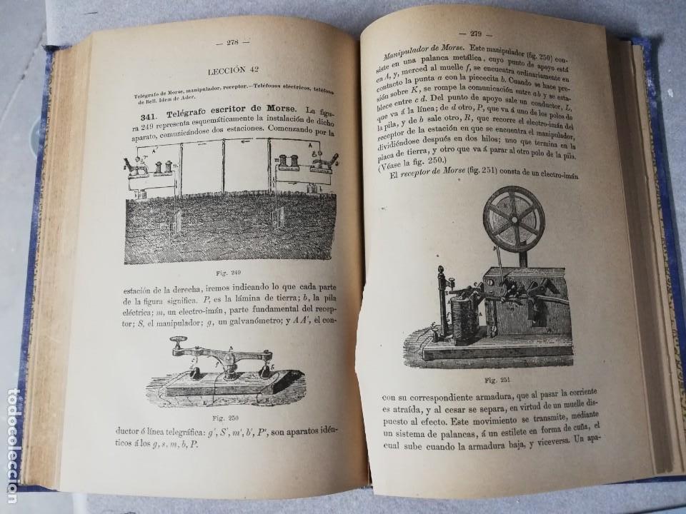 Libros antiguos: LIBRO ELEMENTOS DE FISICA MODERNA - P.TEODORO RODRIGUEZ - AÑO 1894 - MUY ILUSTRADO CON FOTOGRABADOS. - Foto 4 - 224689345
