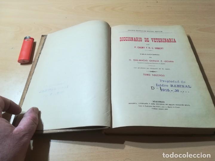 Libros antiguos: DICCIONARIO DE VETERINARIA, CAGNY - GOBERT / TOMO SEGUNDO / ED FELIPE GONZALEZ ROJAS / P+206 - Foto 4 - 225050360