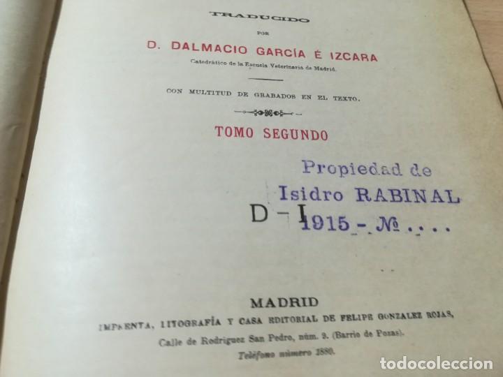 Libros antiguos: DICCIONARIO DE VETERINARIA, CAGNY - GOBERT / TOMO SEGUNDO / ED FELIPE GONZALEZ ROJAS / P+206 - Foto 6 - 225050360