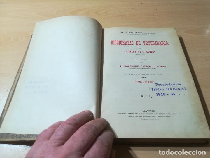Libros antiguos: DICCIONARIO DE VETERINARIA, CAGNY - GOBERT / TOMO PRIMERO / ED FELIPE GONZALEZ ROJAS / Q306 - Foto 5 - 225052506