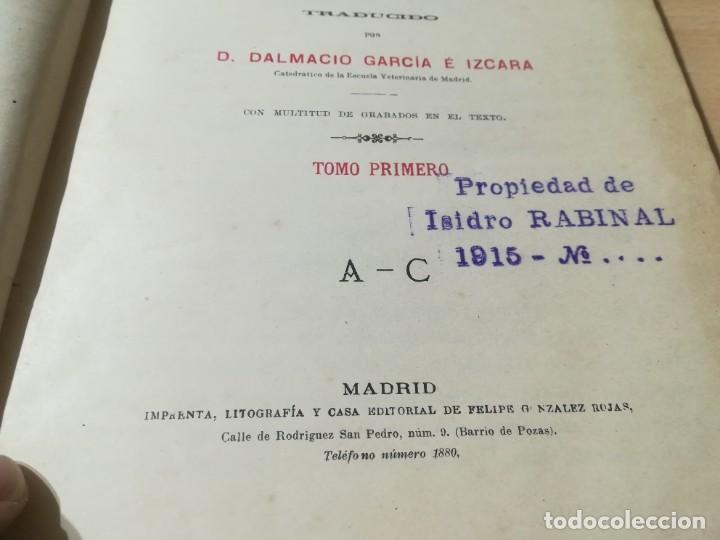 Libros antiguos: DICCIONARIO DE VETERINARIA, CAGNY - GOBERT / TOMO PRIMERO / ED FELIPE GONZALEZ ROJAS / Q306 - Foto 7 - 225052506
