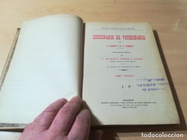 Libros antiguos: DICCIONARIO DE VETERINARIA, CAGNY - GOBERT / TOMO TERCERO / ED FELIPE GONZALEZ ROJAS / Q306 - Foto 5 - 225052605