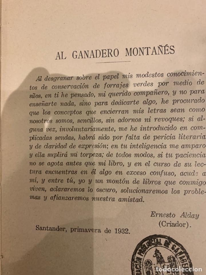 Libros antiguos: Ensillar es ganar, Ernesto Alday 1932, a los ganaderos cántabros. - Foto 2 - 225863470