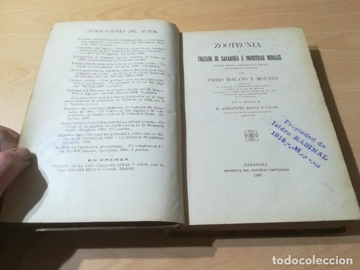 Libros antiguos: ZOOTECNIA - TRATADO DE GANADERIA E INDUSTRIAS RURALES / PEDRO MOYANO / 1907 IMPRENTA HOSPICIO ZARAGO - Foto 4 - 226130925
