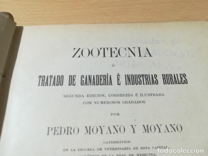 Libros antiguos: ZOOTECNIA - TRATADO DE GANADERIA E INDUSTRIAS RURALES / PEDRO MOYANO / 1907 IMPRENTA HOSPICIO ZARAGO - Foto 5 - 226130925