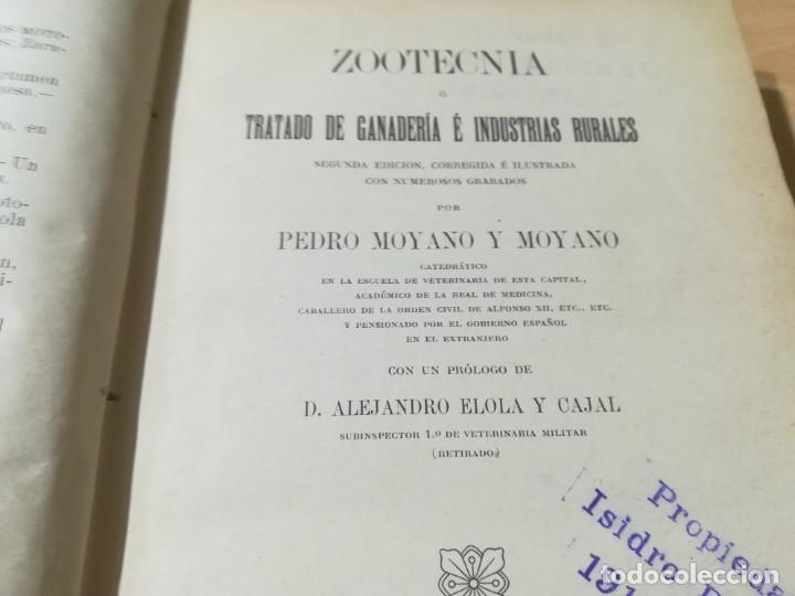 Libros antiguos: ZOOTECNIA - TRATADO DE GANADERIA E INDUSTRIAS RURALES / PEDRO MOYANO / 1907 IMPRENTA HOSPICIO ZARAGO - Foto 6 - 226130925