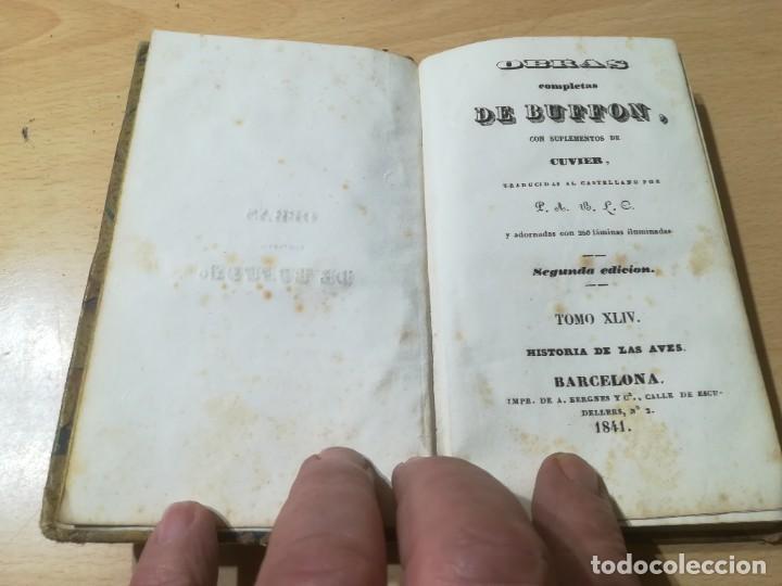 Libros antiguos: OBRAS COMPLETAS DE BUFFON / XLIV HISTORIA DE LAS AVES / 1841 BERGNES Y Cª BARCELONA / AB105 - Foto 4 - 226612465
