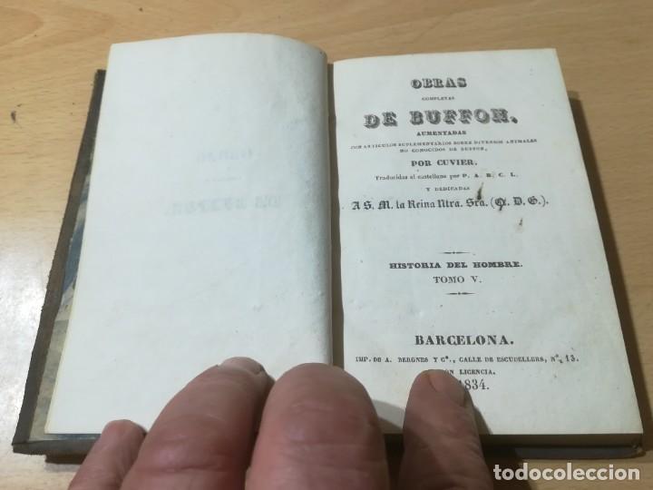Libros antiguos: OBRAS COMPLETAS DE BUFFON / V HISTORIA DEL HOMBRE / 1834 BERGNES Y Cª BARCELONA / AB105 - Foto 4 - 226612770