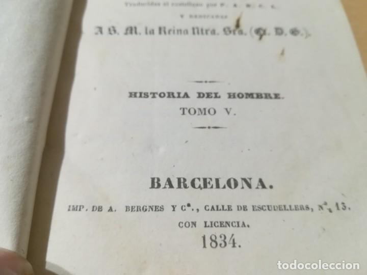 Libros antiguos: OBRAS COMPLETAS DE BUFFON / V HISTORIA DEL HOMBRE / 1834 BERGNES Y Cª BARCELONA / AB105 - Foto 6 - 226612770