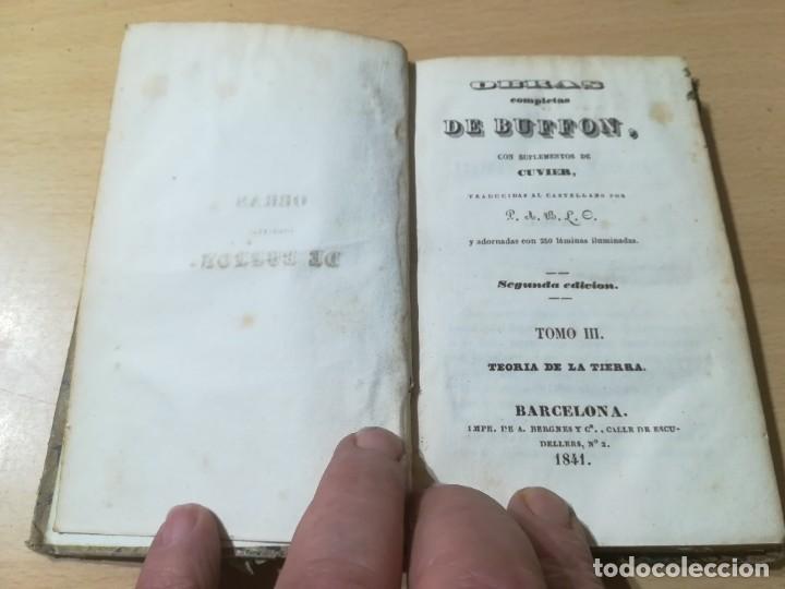 Libros antiguos: OBRAS COMPLETAS DE BUFFON / III TEORIA DE LA TIERRA / 1841 BERGNES Y Cª BARCELONA / AB105 - Foto 3 - 226614652