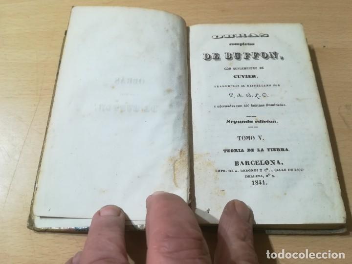 Libros antiguos: OBRAS COMPLETAS DE BUFFON / V TEORIA DE LA TIERRA / 1841 BERGNES Y Cª BARCELONA / F207 - Foto 3 - 226623825