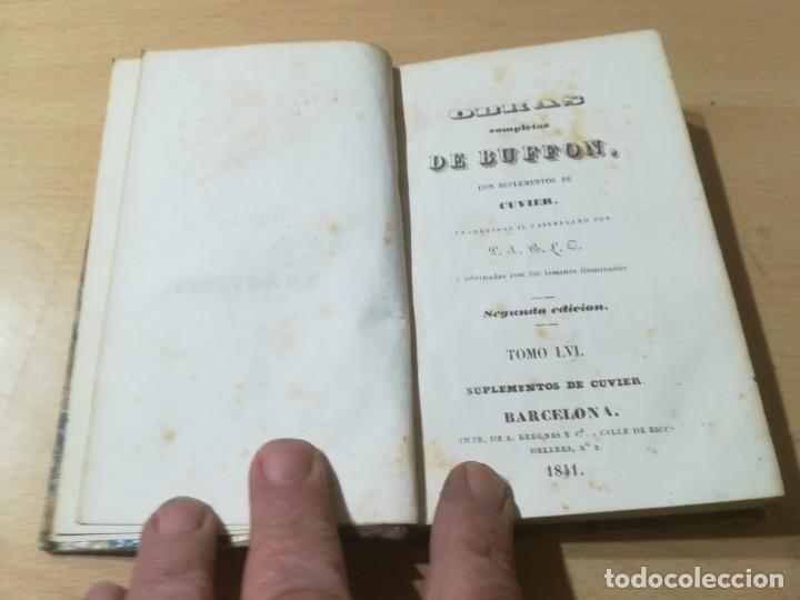 Libros antiguos: OBRAS COMPLETAS DE BUFFON / LVI SUPLEMENTOS DE CUVIER / 1841 BERGNES Y Cª BARCELONA / F207 19,75 - Foto 5 - 226624110
