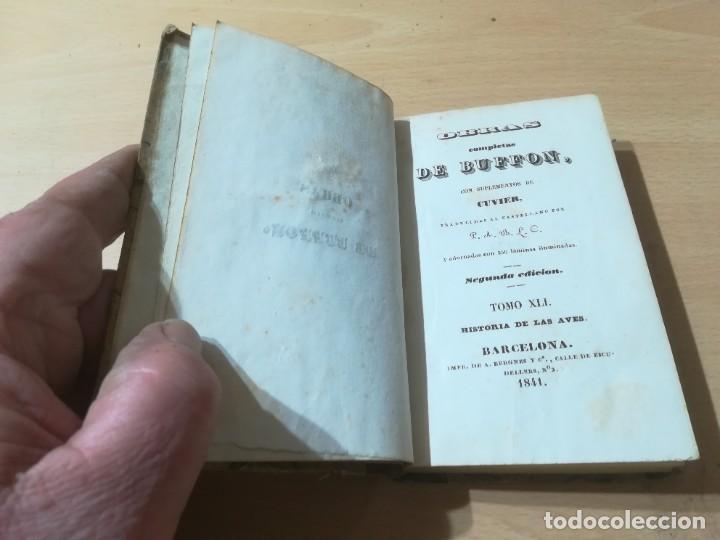 Libros antiguos: OBRAS COMPLETAS DE BUFFON / XLI HISTORIA DE LAS AVES / 1841 BERGNES Y Cª BARCELONA / F207 - Foto 4 - 226624785