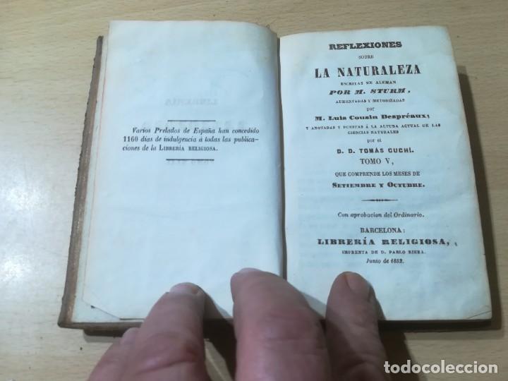 Libros antiguos: REFLEXIONES SOBRE LA NATURALEZA - M STURM / V SEPTIEMBRE OCTUBRE / 1852 LIBRERÍA RELIGIOSA BARCELONA - Foto 4 - 226645870