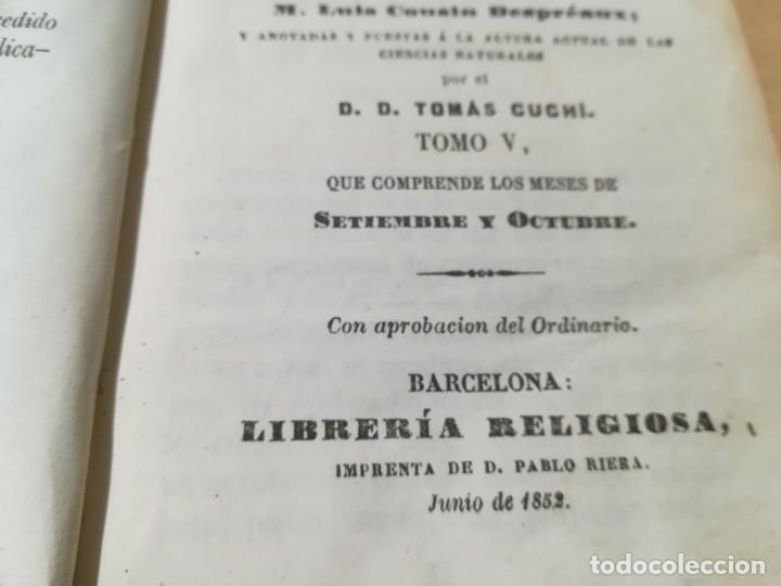 Libros antiguos: REFLEXIONES SOBRE LA NATURALEZA - M STURM / V SEPTIEMBRE OCTUBRE / 1852 LIBRERÍA RELIGIOSA BARCELONA - Foto 6 - 226645870