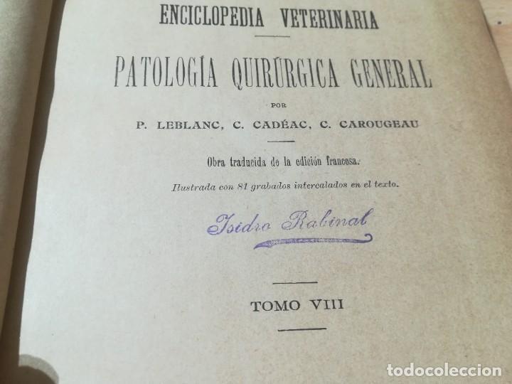 Libros antiguos: ENCICLOPEDIA VETERINARIA PATOLOGIA QUIRURGICA GENERAL / LEBLANC / CADEAC / GAROUGEAU / VIII / AB201 - Foto 6 - 226646340