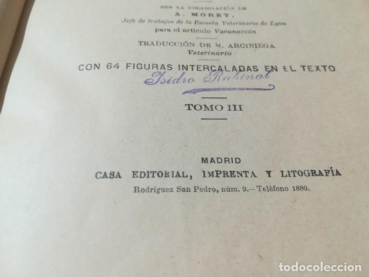 Libros antiguos: ENCICLOPEDIA VETERINARIA / SEMIOLOGIA DIAGNOSTICO TRATAMIENTO ANIMALES DOMESTICOS / GADEAC II - III - Foto 8 - 226647035