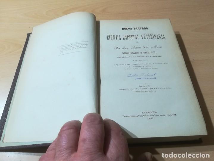 Libros antiguos: CIRUJIA ESPECIAL VETERINARIA CIRUGIA / JUAN ANTONIO SAINZ Y ROZAS / 1885 CALISTO ARIÑO ZARAGOZA / I- - Foto 5 - 226650085