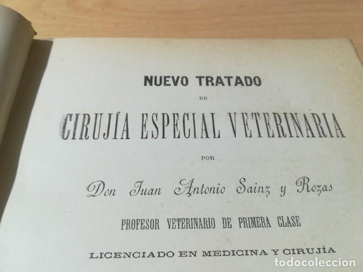 Libros antiguos: CIRUJIA ESPECIAL VETERINARIA CIRUGIA / JUAN ANTONIO SAINZ Y ROZAS / 1885 CALISTO ARIÑO ZARAGOZA / I- - Foto 6 - 226650085