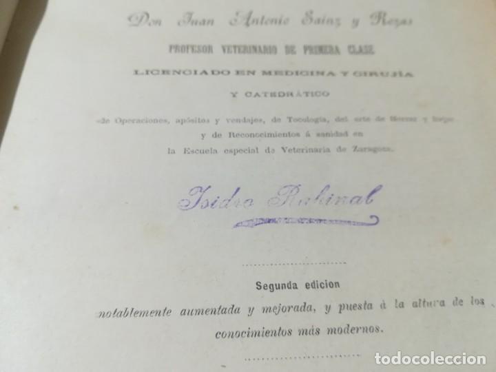 Libros antiguos: CIRUJIA ESPECIAL VETERINARIA CIRUGIA / JUAN ANTONIO SAINZ Y ROZAS / 1885 CALISTO ARIÑO ZARAGOZA / I- - Foto 7 - 226650085