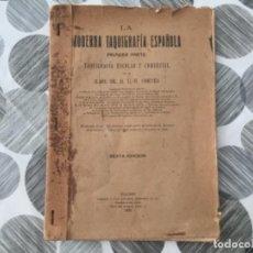 Libros antiguos: LA MODERNA TAQUIGRAFÍA ESPAÑOLA. PRIMERA PARTE. SR. D. L. R. CORTÉS. Lote 226764725