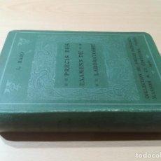 Libros antiguos: PRECIS DES EXAMENS DE LABORATOIRE / L BARD - EN FRANCES / MASSONS PARIS 1911 / AB202. Lote 227028235